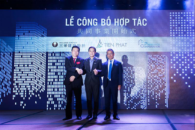 Lễ công bố hợp tác giữa Tiến Phát Corp. với Sanei Kenchiku Sekkei và Pressance Corp 5