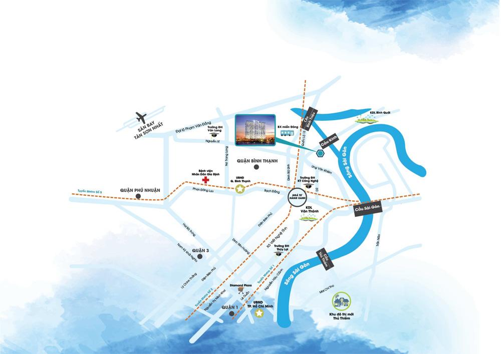 Soho Riverview vị trí dự án