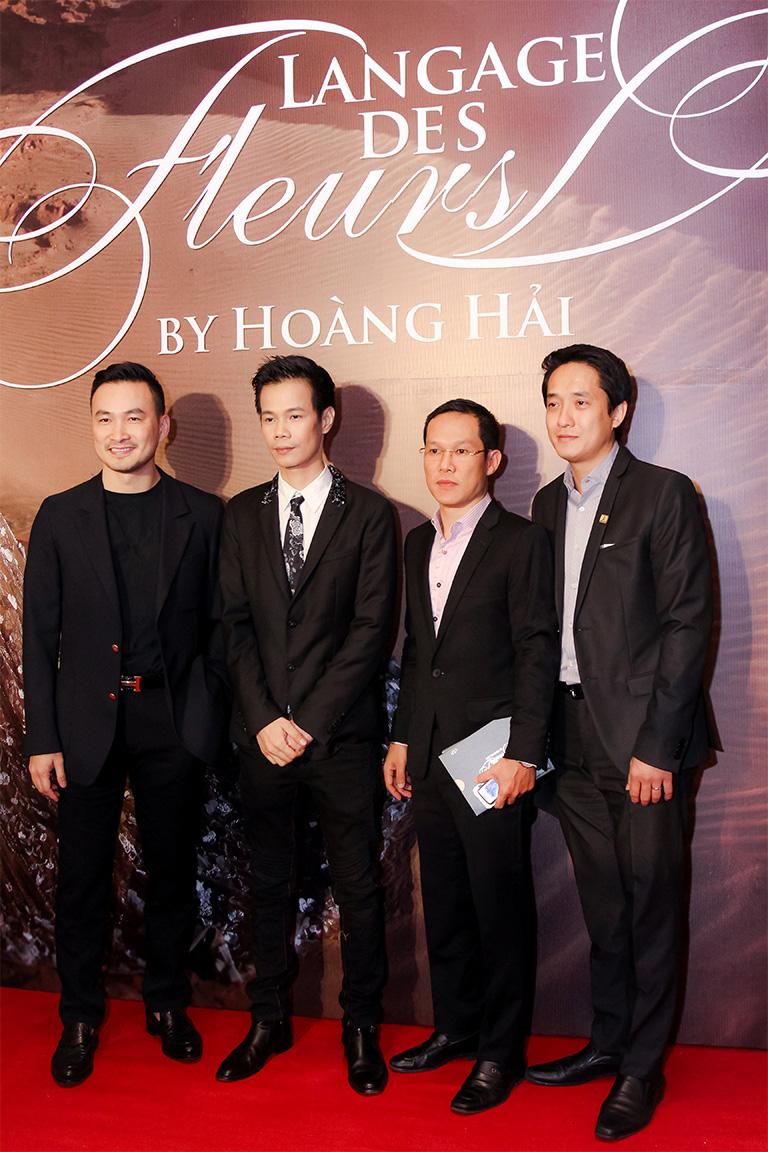 Diễn viên Chi Bảo, Nhà thiết kế Hoàng Hải và Ông Lê Quốc Duy – Chủ tịch HĐQT Tiến Phát Corp (ngoài cùng bên phải)