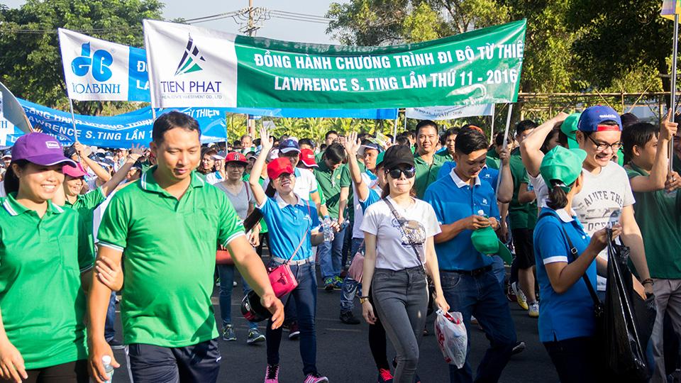 Tiến Phát tham gia chương tình đi bộ từ thiện Lawrence s.ting 2016 3