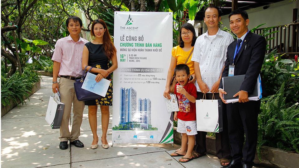 Lễ công bố chương trình bán hàng dự án The Ascent – Thao Dien Condominiums